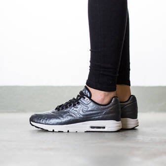 "Buty damskie sneakersy Nike Air Max 1 Ultra Premium Jacquard ""Dark Grey"" 861656 001"