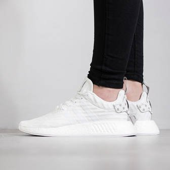 "Buty damskie sneakersy adidas Originals NMD_R2 Primeknit ""Triple White"" BY2245"
