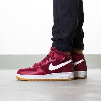 "Buty męskie sneakersy Nike Air Force 1 Mid '07 ""Team Red"" 315123 608"