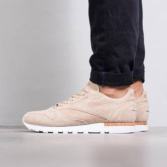 "Buty męskie sneakersy Reebok Classic Leather LST ""Neutrals Pack"" Oatmeal BD1900"