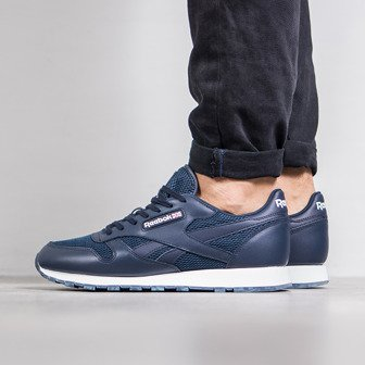 "Buty męskie sneakersy Reebok Classic Leather NM ""Collegiate Navy"" BD1651"