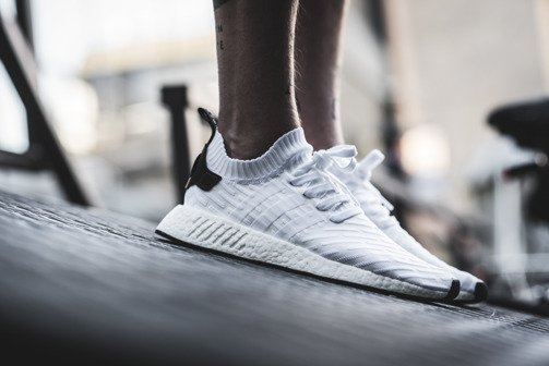 "Buty męskie sneakersy adidas Originals NMD_R2 Primeknit ""Running White"" BY3015"