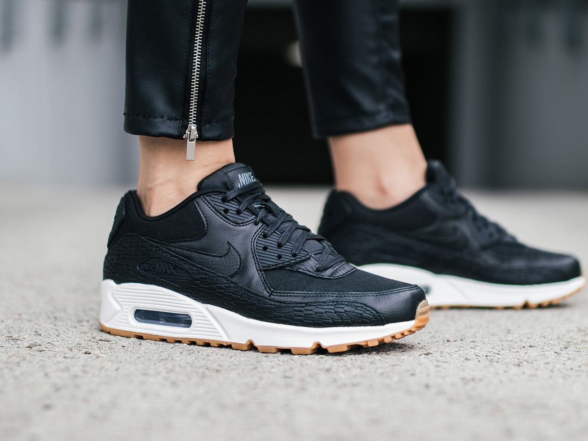 buty damskie sneakersy nike air max 90 premium leather. Black Bedroom Furniture Sets. Home Design Ideas
