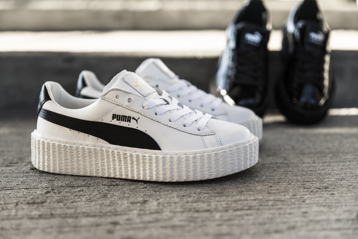 buty damskie sneakersy puma creeper x fenty by rihanna white black 364462 01 promocyjna. Black Bedroom Furniture Sets. Home Design Ideas