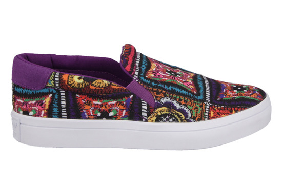 Buty damskie sneakersy adidas Originals Courtvantage Slip On x The Farm Company S79966