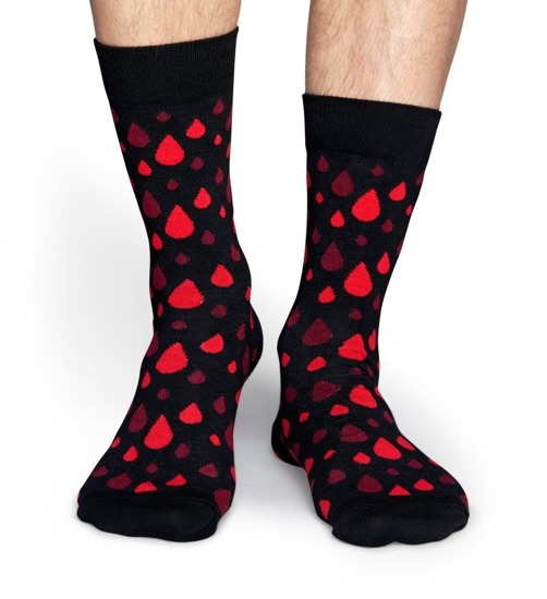 "Skarpetki męskie Happy Socks x Robert Rodriguez ""Blood Dot"" RRDB01 9000"