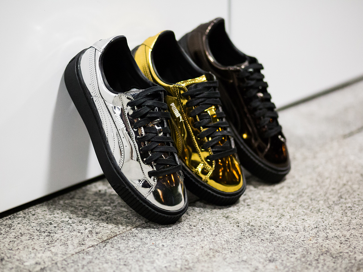 "Puma Basket Platform ""Metallic Pack"""