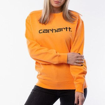 Bluza damska Carhartt WIP W' Sweatshirt I027475 POP ORANGE/BLACK