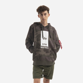 Bluza męska Alpha Industries Black Logo Hoody 126346 415