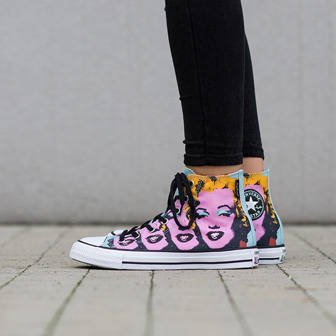 Buty damskie sneakersy Converse Chuck Taylor All Star Hi Andy Warhol 153839C