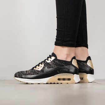 "Buty damskie sneakersy Nike Air Max 90 Ultra 2.0 Flyknit ""Metallic Gold"" Pack 881563 001"