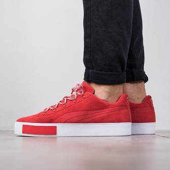 "Buty męskie sneakersy Puma Court Platform Suede x Daily Paper ""High Risk Red"" 363266 01"
