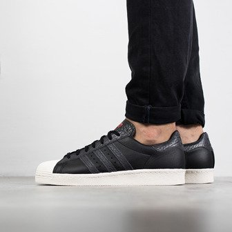 "Buty męskie sneakersy adidas Originals Superstar 80s ""Core Black"" BZ0140"