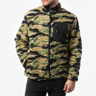 Kurtka męska HUF Milton Reversible Polar Fleece Jacket JK00185 TIGER/CAMO