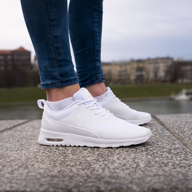 uk availability be658 290da nike air max thea damskie białe