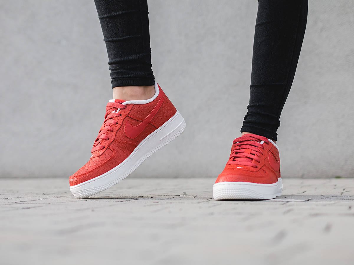 nike air force 1 red damskie