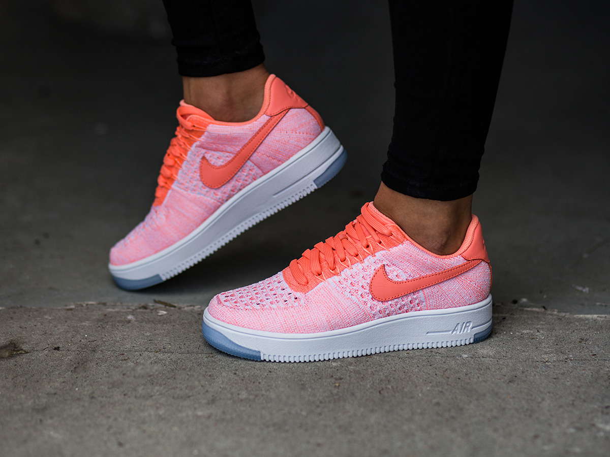 buty nike air force 1 low flyknit czarne