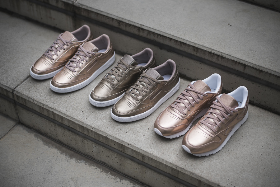 Buty damskie sneakersy Reebok Classic Leather Melted Metal