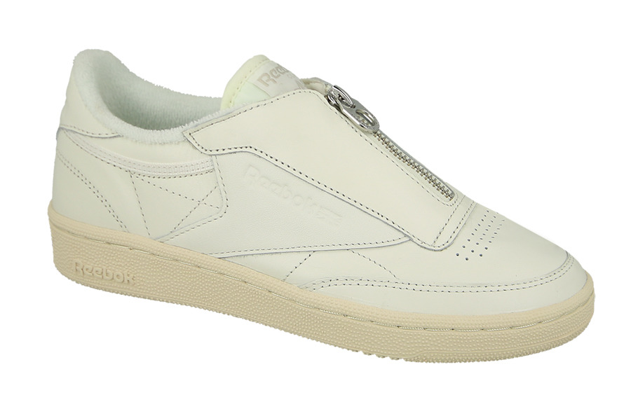 Buty Damskie BS6612 Reebok Womens CLub C 85 Zip Chalk