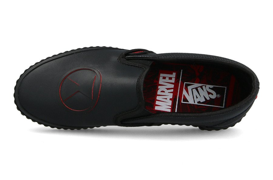 Buty damskie sneakersy Vans Classic Slip On x Marvel Black