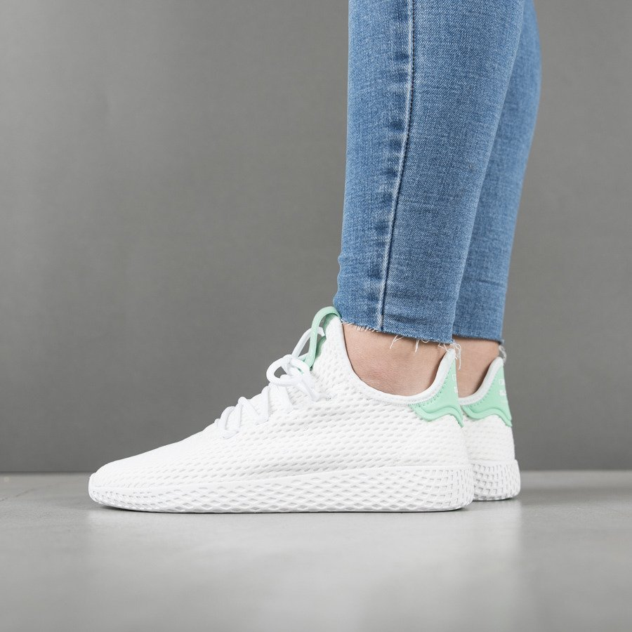 adidas Damen Pharrell Williams Tennis HU Weiß Textil
