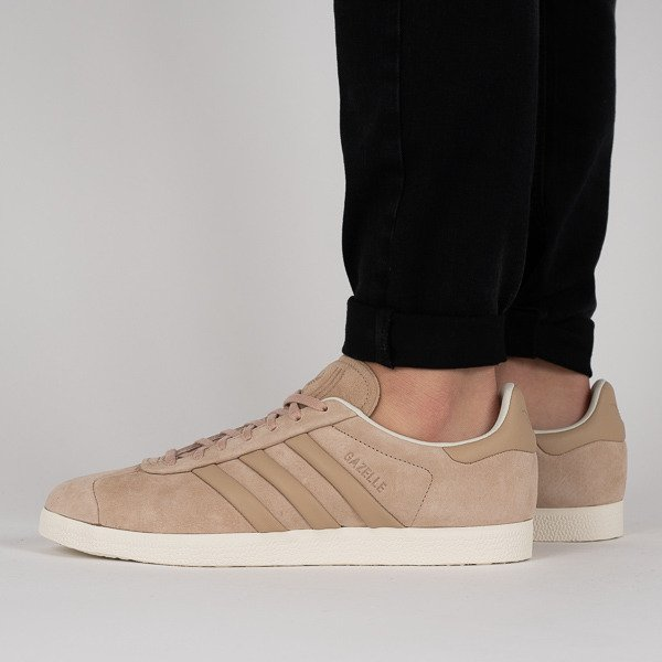 Buty męskie sneakersy adidas Originals Gazelle Stitch and Turn AQ0893 BRĄZOWY sneakerstudio.pl