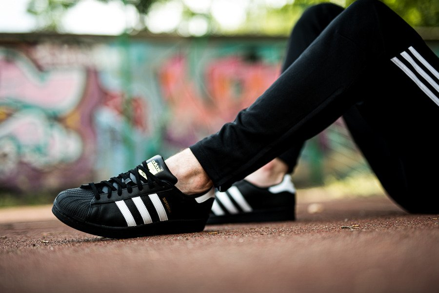 Buty sneakersy adidas Originals Superstar B27140 | czarne