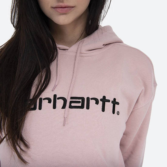 Bluza damska Carhartt WIP Hooded Sweat I027476 FROSTED PINK/BLACK
