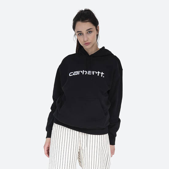 Bluza damska Carhartt WIP W' Hooded Sweatshirt I027476 BLACK/WHITE