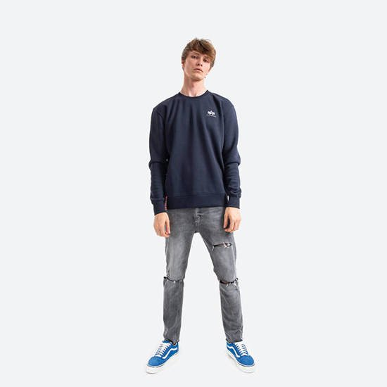 Bluza męska Alpha Industries Basic Sweater Small Logo 188307 07