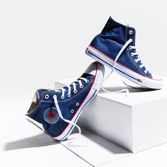 Buty damskie sneakersy Converse Chuck Taylor All Star Denim Love 163303C