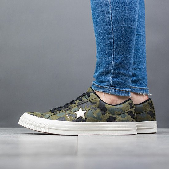 "Buty damskie sneakersy Converse One Star ""Nubuck Gold Camo""159703C"