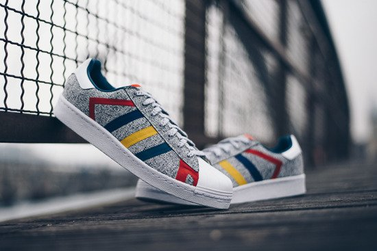 "Buty damskie sneakersy adidas Superstar x White Mountaineering ""Grey Multi"" AQ0352"