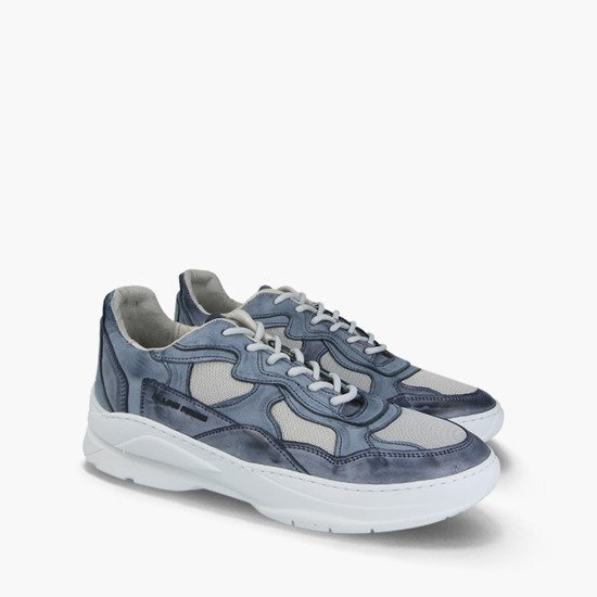 Buty męskie sneakersy Filling Pieces Low Fade Cosmo Infinity Navy Blue 37625881884PMZ