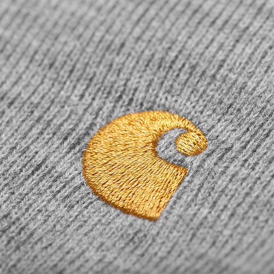 Czapka Carhartt WIP Chase Beanie I026222 GREY HEATHER/GOLD