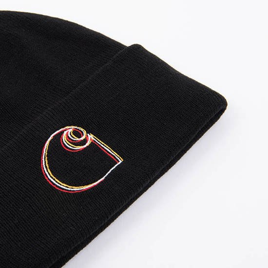Czapka Carhartt WIP Commission Logo I028482 BLACK