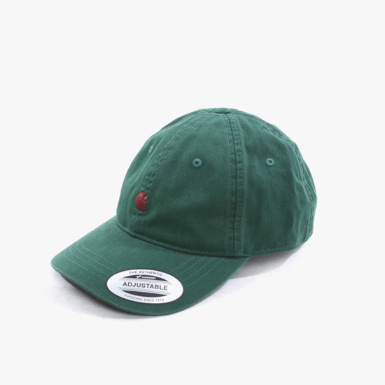 Czapka Carhartt WIP Madison Logo Cap I023750 CHROME GREEN/MERLOT