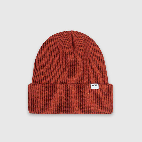 Czapka Wood Wood Mande Beanie 11930811-9969 Orange