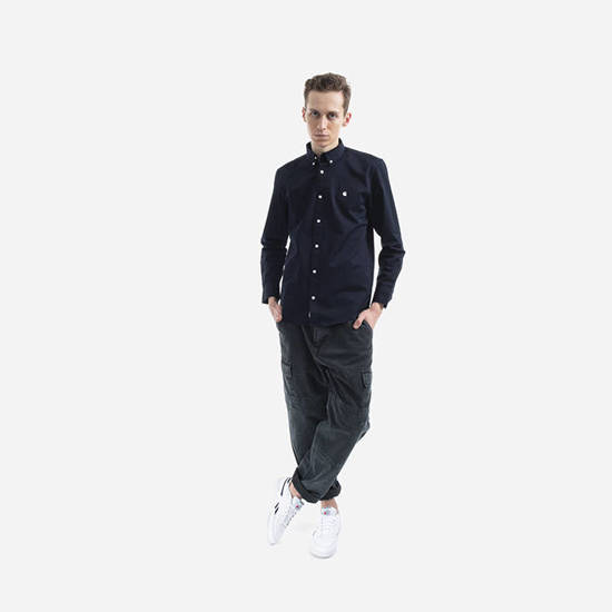Koszula męska Carhartt WIP Madison Shirt I023339 DARK NAVY/WAX