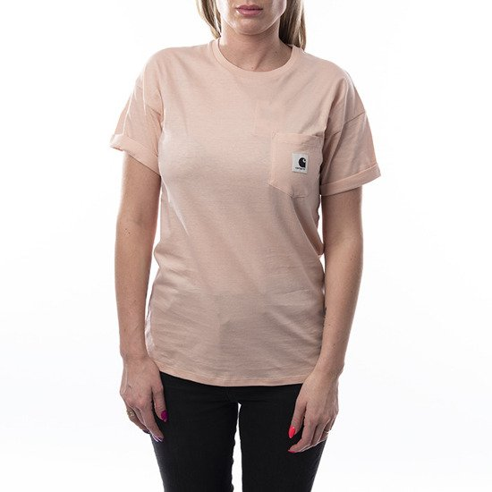 Koszulka damska Carhartt WIP W' Carrie Pocket T-Shirt I021890 POWDERY/ASH HEATHER