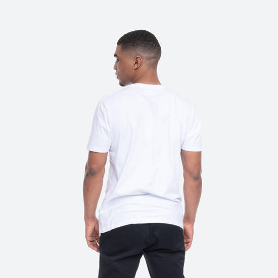 Koszulka męska Wood Wood Square T-shirt 11935720-2334 BRIGHT WHITE