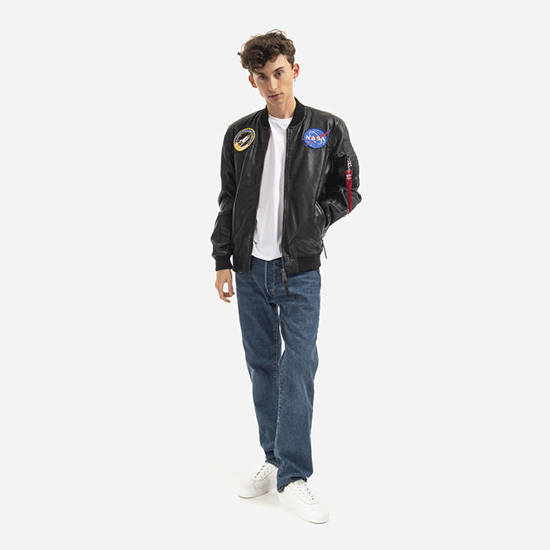 Kurtka męska Alpha Industries Ma-1 Lw Nasa Leather 126151 03