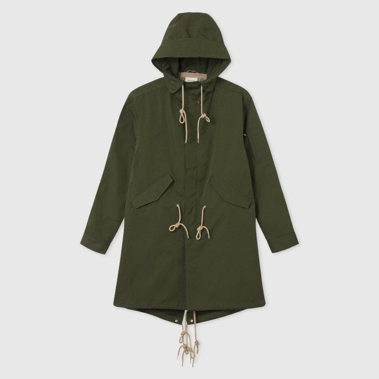 Kurtka męska Wood Wood William Parka Coat 11935911-5199 DARK GREEN