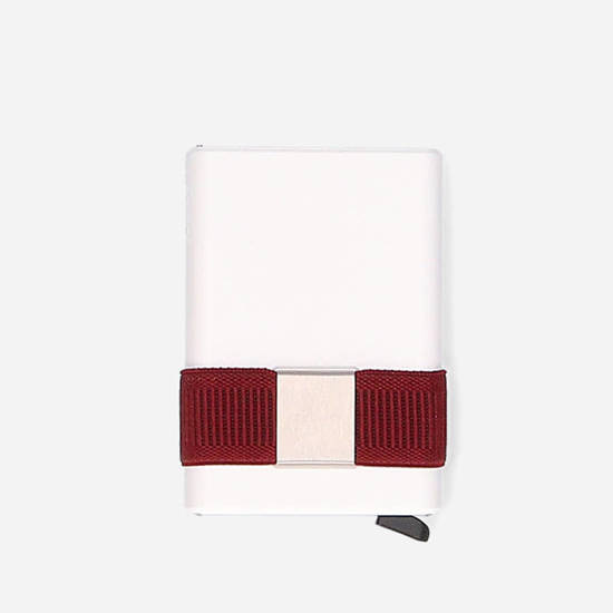 Portfel Secrid Cardslide CS-White/Bordeaux