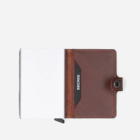 Portfel Secrid Miniwallet Original M-Dark Brown