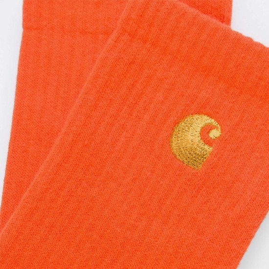 Skarpetki Carhartt WIP Chase Socks I026527 SAFETY ORANGE/GOLD