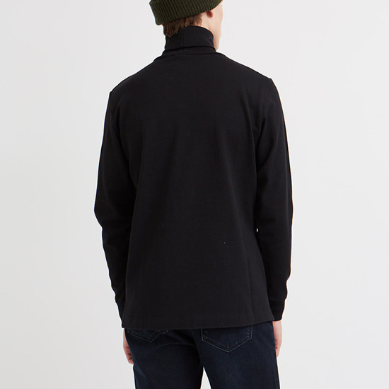Sweter męski Wood Wood Austin Turtleneck 11935401-2470 Black