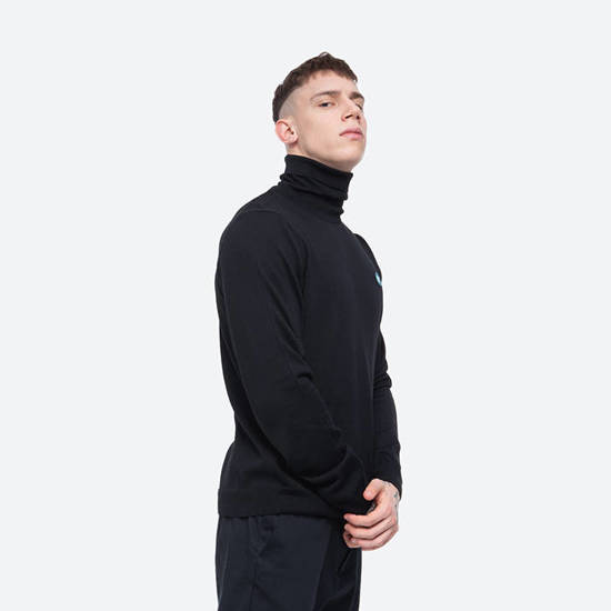 Sweter męski Wood Wood Luc Turtlenenck 10005508-4142 BLACK