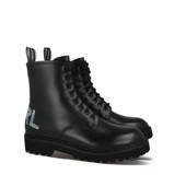 Buty damskie Karl Lagerfeld Troupe Brush Logo Boot Hi KL45450 000
