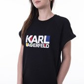 Sukienka Karl Lagerfeld Bauhaus Logo Sweat Dress 201W1817 999